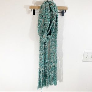 American Eagle Outfitters Knit Green Scarf